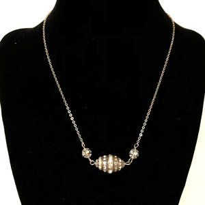 Crystal Rondelle sweet necklace, great layered!
